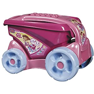 Mega Bloks Pink Fill and Dump Wagon