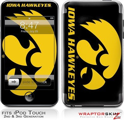 iPod+Touch+2G+%26+3G+Skin+and+Screen+Protector+Kit+-+Iowa+Hawkeyes+Herky+Gold+on+Black