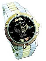 Landstroms Mens Black Hills Gold Eagle Watch with Leaves - MWB531-BLK