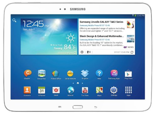 """Samsung Galaxy Tab 3 10.1"""" - White (Certified Refurbished) front-279625"""