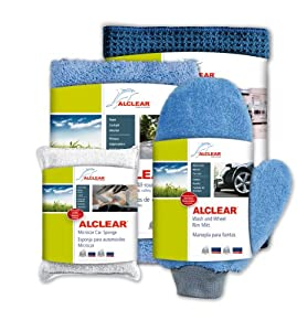 ALCLEAR U.S. 8201000GS Pro's Car Care Set: Paintwork care, windscreen cleaning, drying, wheel cleaning, interior cleaning - (Polishing, paint cleaning, cockpit care) gift set, German quality product by ALCLEAR