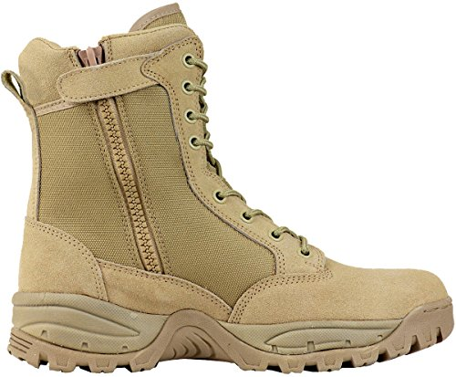 Maelstrom Men's TAC FORCE 8 Inch Military Tactical Duty Work Boot with Zipper, Tan, 8 M US