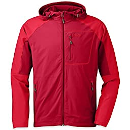 Outdoor Research Ferrosi Hoody - Men\'s Agate / Hot Sauce Small