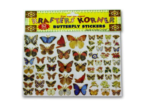 Butterfly Stickers - Case of 48