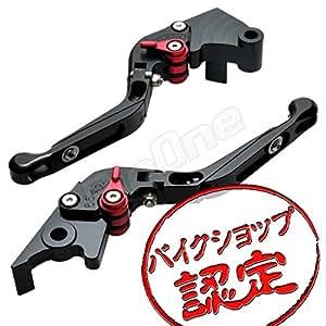 【ビレットレバー】レバーセット 黒/赤 可倒式 Ninja250R EX250K ニンジャ250R EX250K ブレーキレバー クラッチレバー