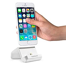 Naztech MFI Lightning Compatible Charge & Sync Super Dock [White] w/ Cable for Apple iPhone 6S/6/5S/iPad Mini