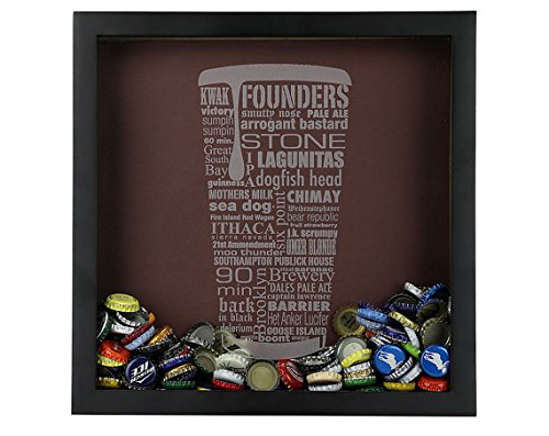 craft beer typography beer cap shadow box beer cap