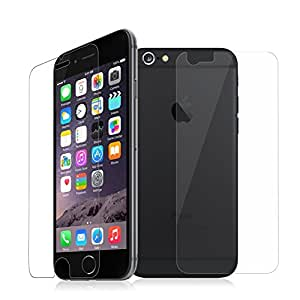 JAIFAON Premium Tempered Glass Screen Protector Guard for Apple Iphone 6 Front and Back