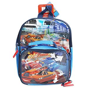 Mini Size Blue Cars Backpack - Disney's CarsBookbag