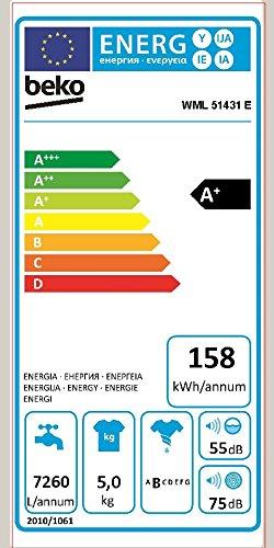 Beko-WML-51431-E-Waschmaschine-Frontlader-A-B-0688-kWh-1400-UpM-5-kg-Groes-Programmauswahl-wei