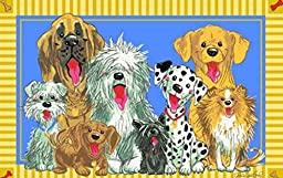 3X5 Rug Little Zoo Cartoon Dogs Of 39\