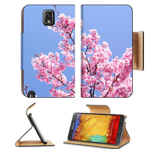 Cherry Blossom With Blue Sky Samsung Galaxy Note 3 N9000 Flip Case Stand Magnetic Cover Open Ports Customized Made To Order Support Ready Premium Deluxe Pu Leather 5 15/16 Inch (150Mm) X 3 1/2 Inch (89Mm) X 9/16 Inch (14Mm) Msd Note Cover Professional Not