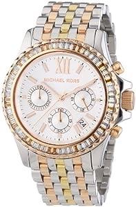 Michael Kors Damen-Armbanduhr Chronograph Quarz Edelstahl beschichtet MK5876