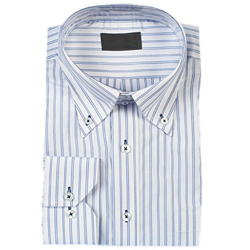 (ブルーム) BLOOM 長袖 ワイシャツ 大きいサイズ  簡単ケア ドゥエボットーニ ボタンダウン 7 3L