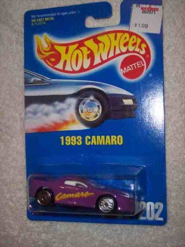 #202 1993 Camaro Purple Ultra Hots Clear Window Collectible Collector Car Mattel Hot Wheels - 1