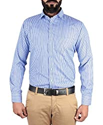 McHenry Blue striped shirt