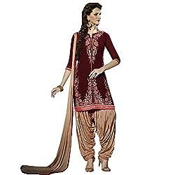 Yati Georgette Embroidered Patiala Salwar Suit Dupatta Material