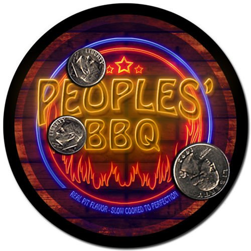 Peoples' Barbeque Drink Coasters - 4 Pack