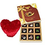 Divine Admire Of Assorted Chocolates With Heart Pillow - Chocholik Luxury Chocolates