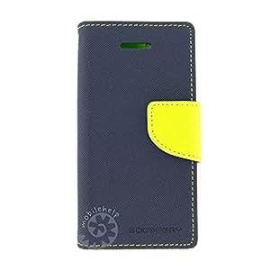 Tingtong Mercury Goospery Diary Flip Cover for Lyf Water 2 - (Blue)