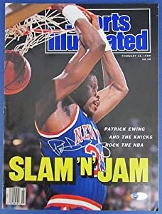 Patrick Ewing New York Knicks Signed Sports Illustrated NO LABEL Steiner 121667