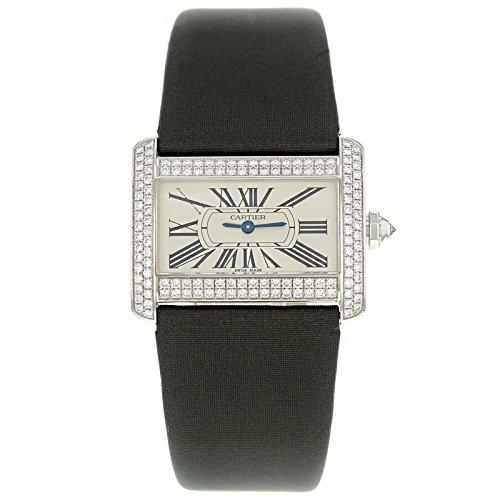 Cartier WA301236-Mini-divano in oro bianco, diamanti, Orologio da uomo al quarzo