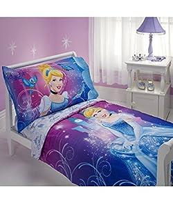 "Disney Princess ""Cinderella"" 4-Piece Toddler Bedding Set"