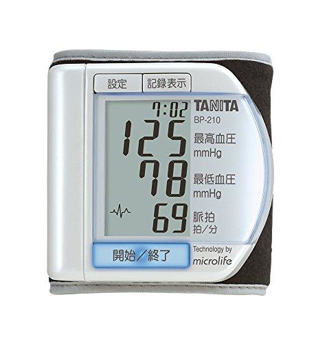 タニタ デジタル血圧計 手首式 パールホワイト BP-210-PR