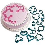 Wilton 12-Piece Cake-Decorating Press Set, Decorator Favorites
