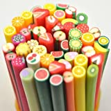 ALICE 20PCS 3D Designs Nail Art Manicure Fimo Canes Sticks Rods Stickers Gel Tips