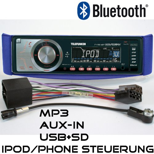 RDS Autoradio Telefunken T470 für Smart for Two mit UKW MP3 USB SD Bluetooth iPod / iPhone Control