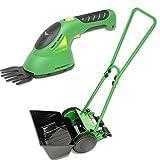 FIELDWOODS(フィールドウッズ) 芝刈り機セット(手動式芝刈り機FW-M20A&コードレス(充電式)芝生用バリカンFW-BB8A)