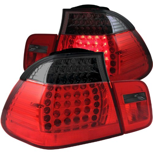Anzo Usa 321123 Bmw Red/Smoke Led Tail Light Assembly - (Sold In Pairs)