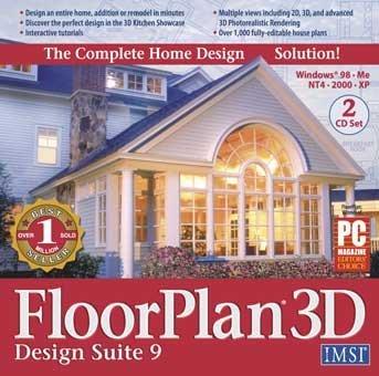 FLOORPLAN 3D DESIGN SUITE 9 - 2 CDS