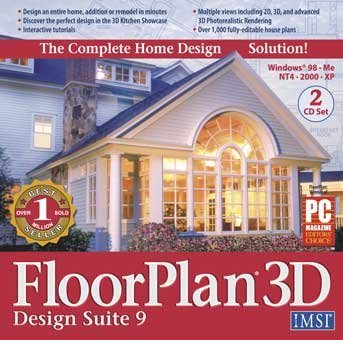 IMSI FLOORPLAN 3D DESIGN SUITE 9 - 2 CDS