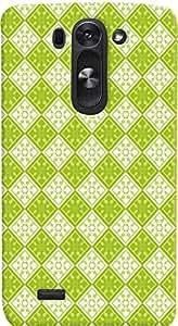 PrintVisa Pattern Green Square Case Cover for LG G3 Beat 722K