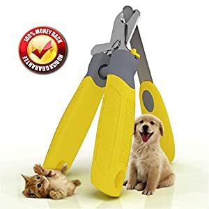 """Trim-Pet Dog Nail Clippers ~ Professional Vet Quality ~ Razor Sharp Stainless Steel Blades With Safety Guard ~ Ergonomic Designed Handles For Easy Precise Cutting ~ Groom Small, Medium Or Large Dogs And Cats ~ Nail Trimmers Designed By Veterinarians ~ Trim Animal Nails With Total Confidence (FREE Bonus Nail And Claw File) """"Healthy Pet Grooming"""" LIFETIME Money Back Guarantee!"""