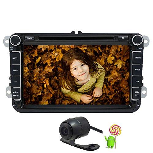 Eincar? GA5153F 8 pollici lettore DVD GPS Radio stereo per il VW Volkswagen / Skoda / Seat Quad Core Android 5.1.1 del sistema operativo WiFi / 3G Bluetooth dello schermo di tocco Headunit + Macchina fotografica retrovisore
