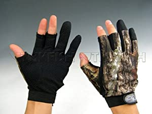 1 Pair Gloves 3 Finger Fishing Hunting Jungle Camouflage Camo Fishing Gloves
