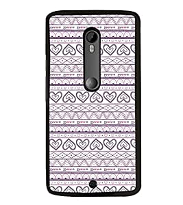 Hearts Pattern 2D Hard Polycarbonate Designer Back Case Cover for Motorola Moto X Style :: Moto X Pure Edition