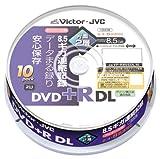 Vctor データ用片面2層DVD+R 8倍速 ホワイトプリンタブル 10枚 スピンドル [VP-R85SDL10]