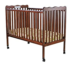 Dream On Me Classic 2 in 1 Convertible Stationary Side Crib, Espresso from Dream On Me