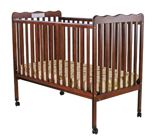 New Dream On Me Classic 2 in 1 Convertible Stationary Side Crib, Espresso