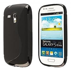 ECENCE Samsung Galaxy S3 mini i8190 i8200 Coque de protection housse case shell noir 14020404