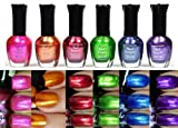 Kleancolor Nail Polish METALLIC SET #01 Lot of 6 Lacquer + Free Earring Gift by Kleancolor [Beauty] - Best Reviews Guide