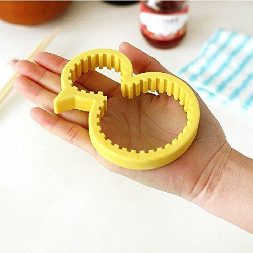 KooKen Silicone Jaune Bouteille de canard et Cans dérapant Anti-Cap Opener / Vis pour Outils de cuisine