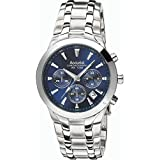 Accurist Chronograph Blue Dial Stainless Steel Bracelet Gents Watch MB1060N