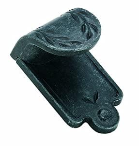 Amerock BP1583WID Inspirations Leaf Finger Pull, Wrought Iron Dark, 1-7/8-Inch Length