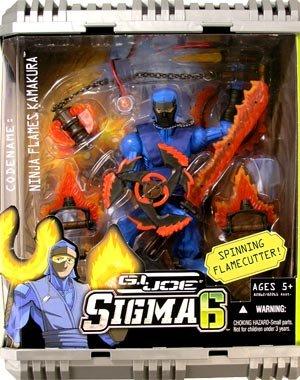 Picture of Hasbro G.I. Joe 8 Inch Commando Sigma 6 - Spinning Flamecutter Ninja Flames Kamakura Figure (B000OUA204) (G.I. Joe Action Figures)