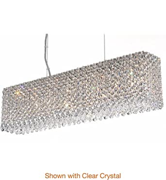 Schonbek Worldwide RE2506CHI 7 Light Refrax Strip Large Pendant